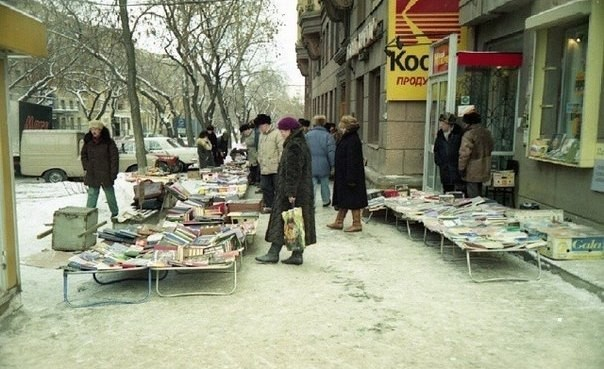 Flohmarkt für russischsprachige Bücher